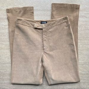 Vintage Suede High Rise Leather Bootcut Pants
